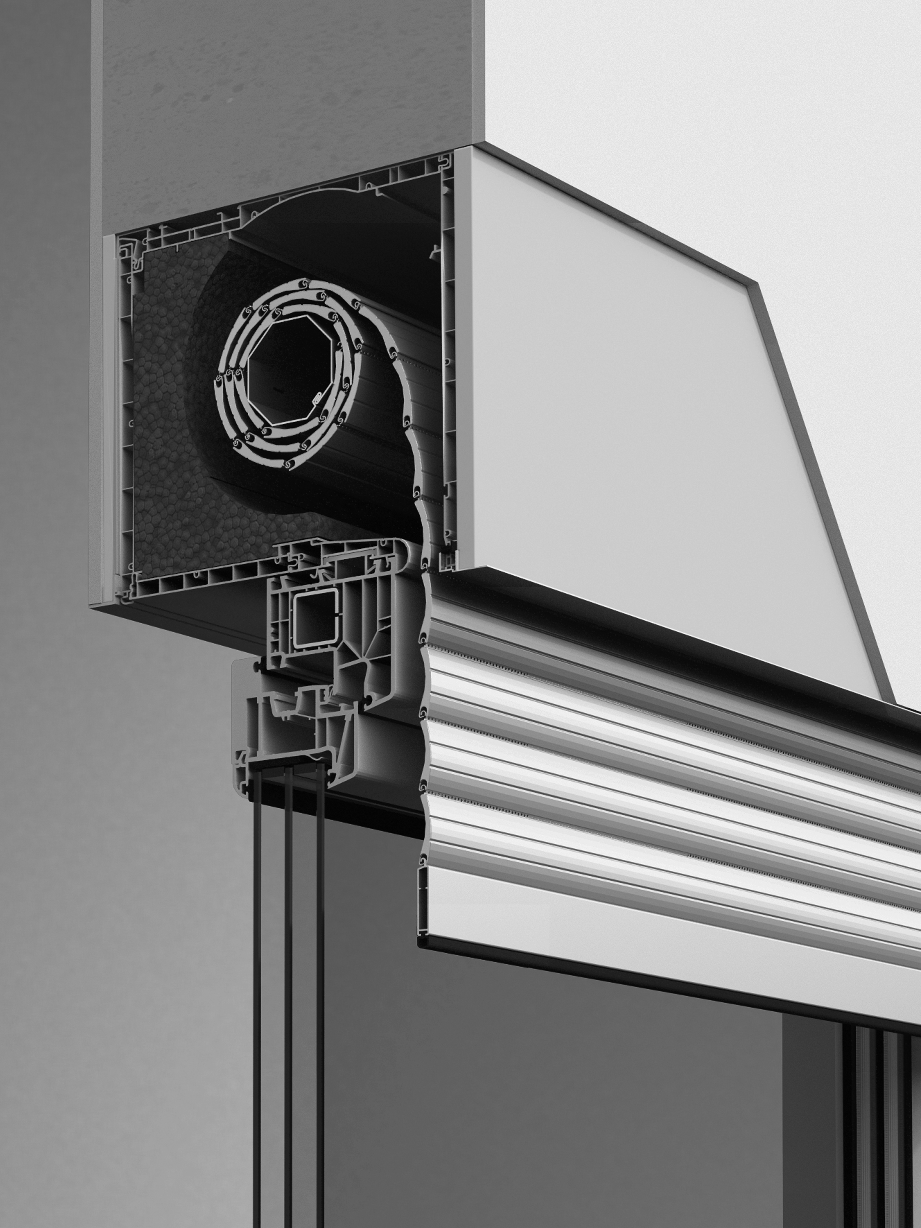 Tanext the pvc top mounted roller shutter for new build and